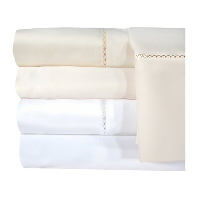 Bella 1200 Thread Count Egyptian Quality Cotton Sheet Set Color: Ivory, Size: Queen