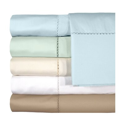 Bella 500 Thread Count Egyptian Quality Cotton Sheet Set Color: Ivory, Size: Twin