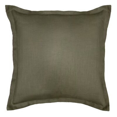 Bluffridge Linen Euro Pillow Color: Green
