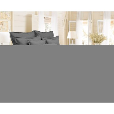 Brownstown Linen Duvet Set Color: Gray, Size: King