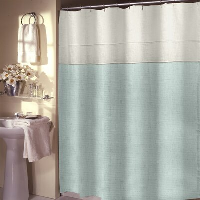 Teo Shower Curtain Color: Electric Blue