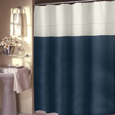 Teo Shower Curtain Color: Sapphire