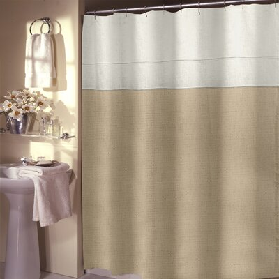 Teo Shower Curtain Color: Wheat