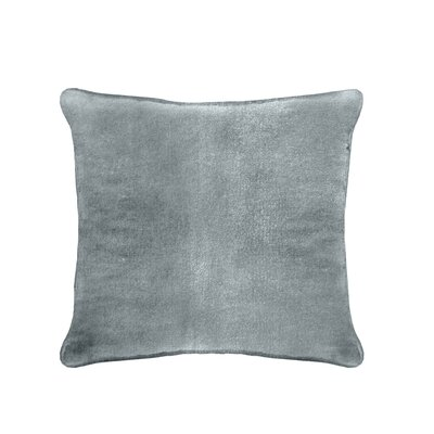 Ted Velvet 100% Cotton Euro Pillow Color: Sky Blue