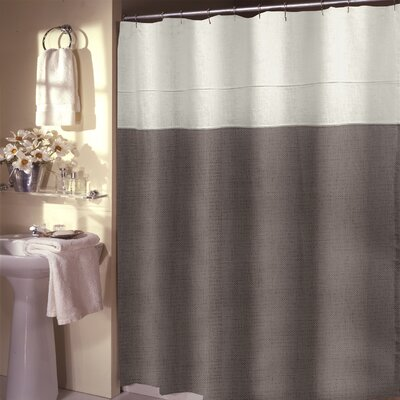 Teo Shower Curtain Color: Coffee