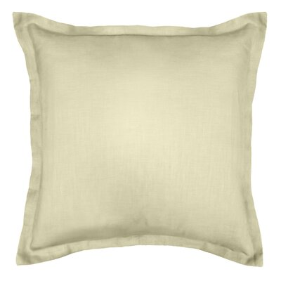 Bluffridge Linen Euro Pillow Color: Beige