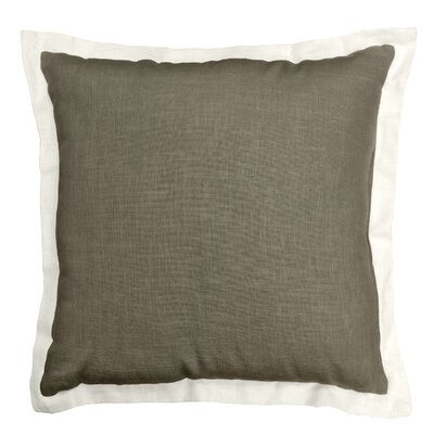 Bluffridge Linen Throw Pillow Color: Olive