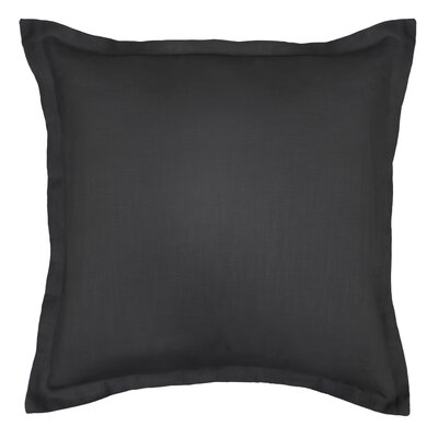 Bluffridge Linen Euro Pillow Color: Black