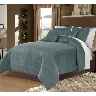 Ted 3 Piece Duvet Set Size: King, Color: Turquoise