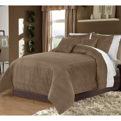 Ted 3 Piece Duvet Set Size: King, Color: Chocolate