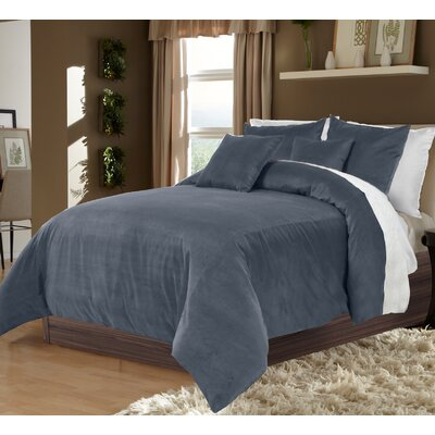 Ted 3 Piece Duvet Set Color: Taupe, Size: King