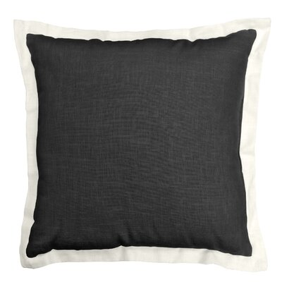 Bluffridge Linen Throw Pillow Color: Black