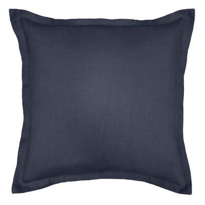 Bluffridge Linen Euro Pillow Color: Navy Blue