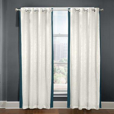Bluffridge Striped Semi-Sheer Grommet Curtain Panel