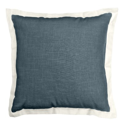 Bluffridge Linen Throw Pillow Color: Carolina Blue