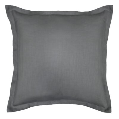 Bluffridge Linen Euro Pillow Color: Charcol