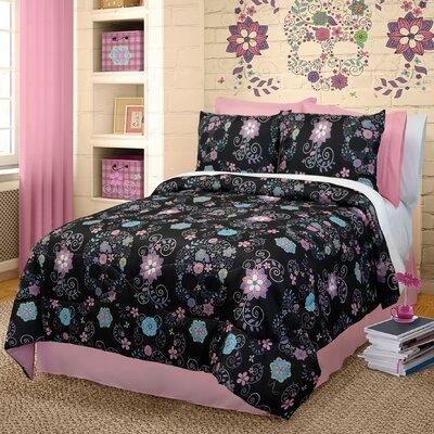 Vumera Skulls Comforter Set Size: Twin