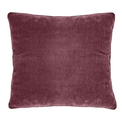 Ted Soft Velvet Throw Pillow Color: Red