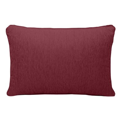 Brownsburg Chenille Lumbar Pillow Color: Burgundy