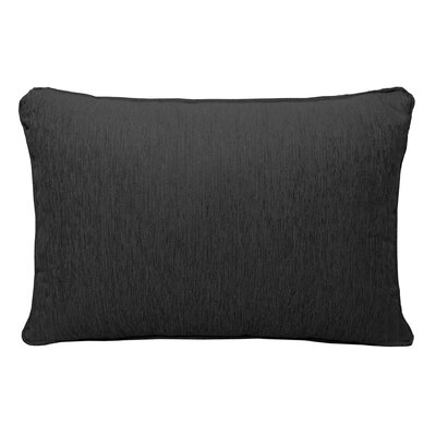 Brownsburg Chenille Lumbar Pillow Color: Black