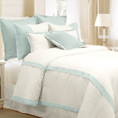 Bluffridge Linen 3 Piece Duvet Set Size: King, Color: Marine Blue