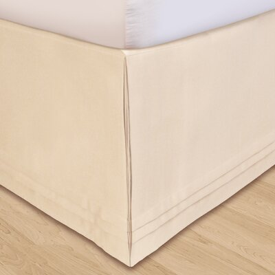 Matte Satin Bed Skirt Size: California King