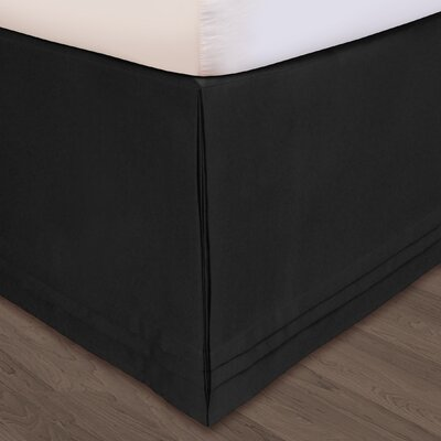 Matte Satin Bed Skirt Size: King