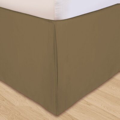 Solid Microfiber Bed Skirt Size: California King