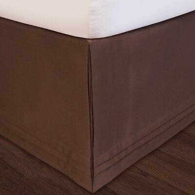Matte Satin Bed Skirt Size: Queen