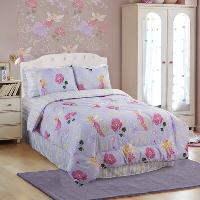 Glow in The Dark Fairy Light Comforter Set Size: Full