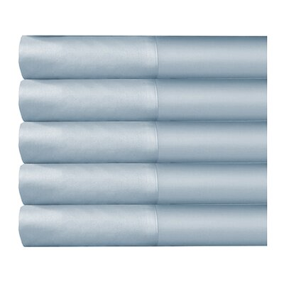 Supreme Sateen 300 Thread Count Solid Sheet Set Color: Blue, Size: Queen
