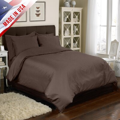 6 Piece Duvet Cover Set Color: Espresso, Size: Full