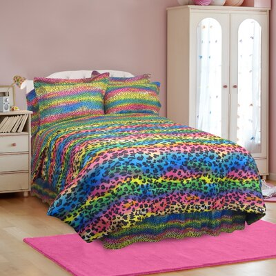 Rainbow Leopard Comforter Collection