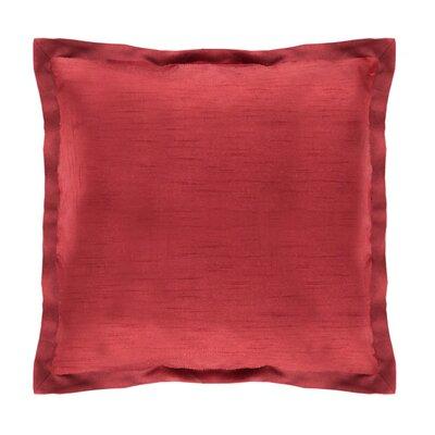 Diamonte Polyester Euro Sham Color: Merlot