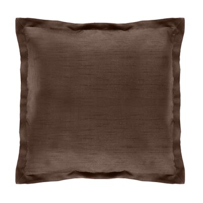 Diamonte Polyester Euro Sham Color: Chocolate