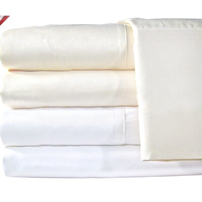Supreme Sateen 1200 Thread Count Solid Sheet Set Size: Full, Color: White