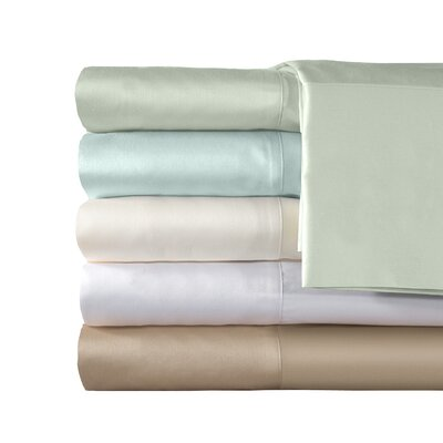 300 Thread Count Supreme Sateen Solid Sheet Set Color: Blue