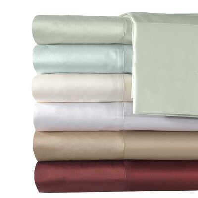 500 Thread Count Supreme Sateen Solid Sheet Set Color: Blue