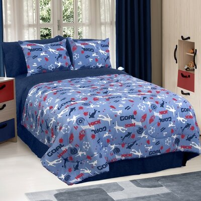 Soccer Locker 3 Piece Comforter Set Size: Twin