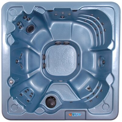 SPA, HOT TUB, JACUZZI Jamaica 7 Person 60 Jet Non-Lounger Spa Color: Blue Denim