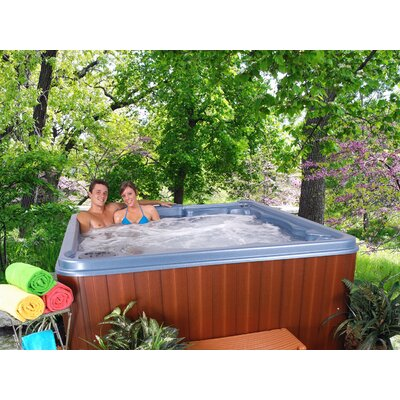 SPA, HOT TUB, JACUZZI Antigua 6 Person 30 Jet Lounger Spa Color: Blue Denim