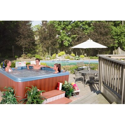 SPA, HOT TUB, JACUZZI Martinique 7 Person 40 Jet Non-Lounger Spa Color: Blue Denim