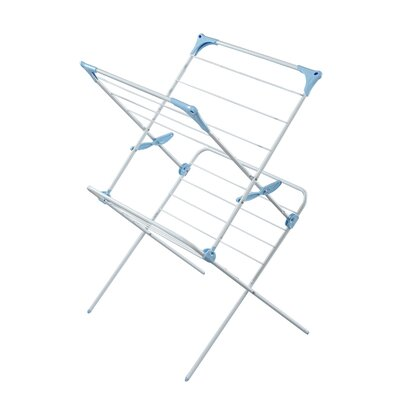 Minky Homecare Two Tier Duo Concertina Indoor Drying Rack in White IH86300100