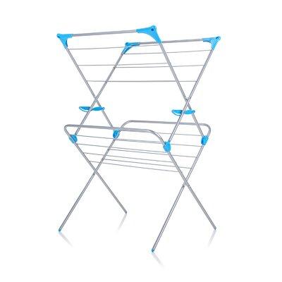 Two Tier Duo Concertina Indoor Drying Rack in White IH86300100