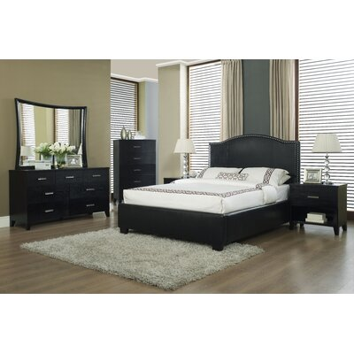 Easy furniture financing Venice-X Panel Bed Finish: Chocolat...