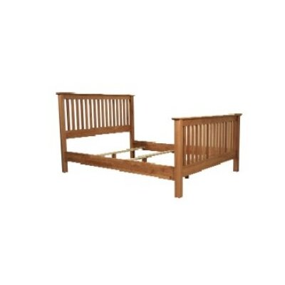 No credit check financing Windridge Slat Bed Size: Queen, Fin...