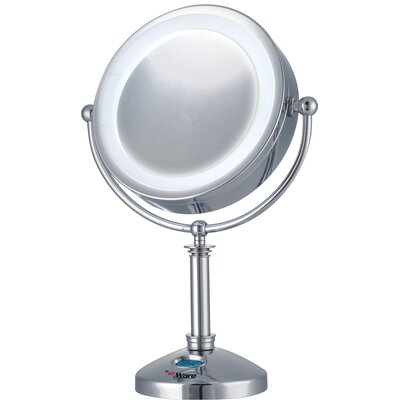 E-ware 10x-1x Large 24 LED Lighted Touch Control Makeup Mirror with Clock at Sears.com