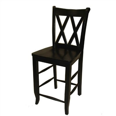 Great American Barstools 18 Double X Chair in Black Best Price