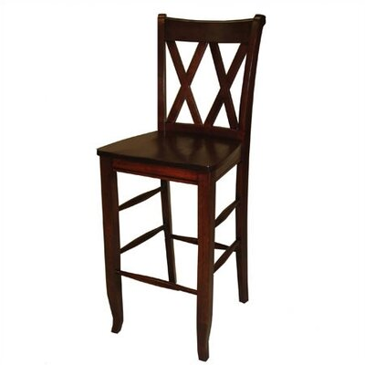 Great American Barstools 18 Double X Chair in Cognac Best Price