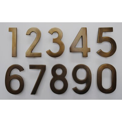 Ecco Pin Mount Address Number - Numbers: 4, Finish: Satin Brass at Sears.com